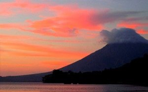 Ometepe Island Volcanoes Sunset