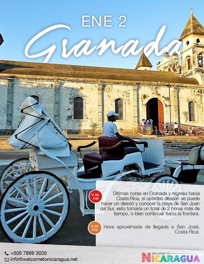 Viaje a Granada desde Costa Rica