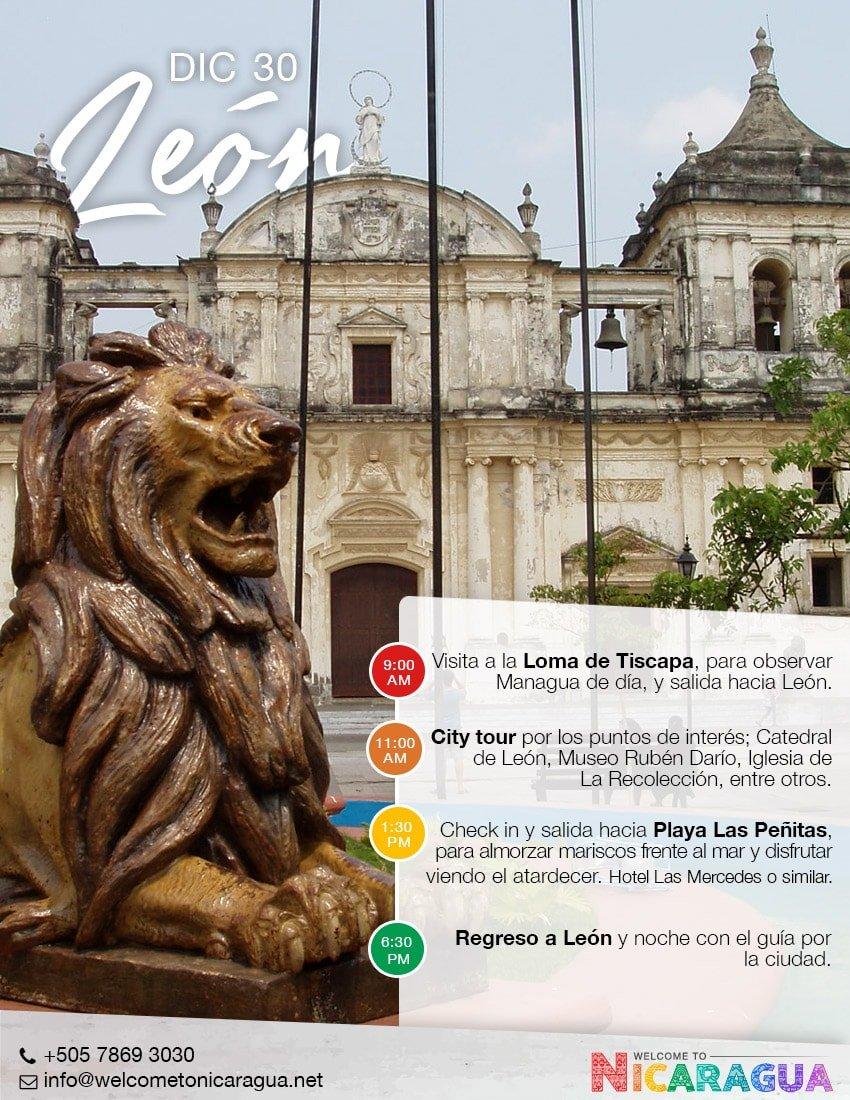 Viaje a León desde Costa Rica