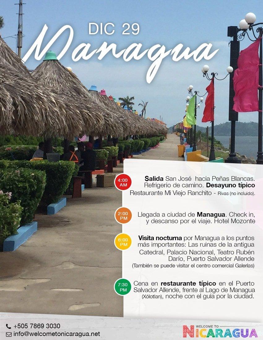 Viaje a Managua desde Costa Rica